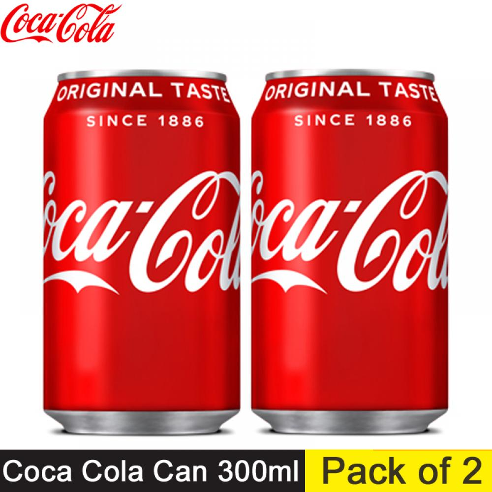 Coca Cola Can 300ml (Pack of 2)