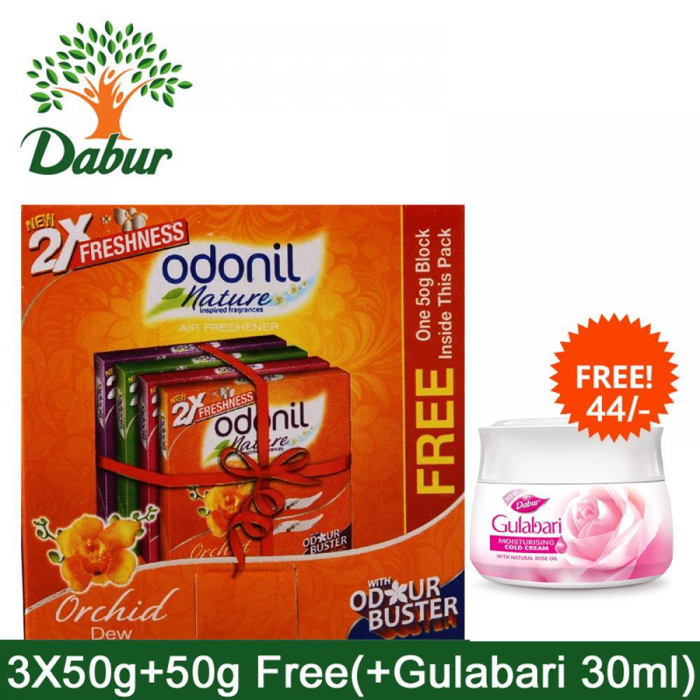 Odonil Nature  Air Freshener 3x50g+50g Free + Free Gulabbari Moisturising Cold Cream 30ml