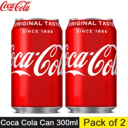 Coca Cola Can 300ml (Pack of 2) Combo Pack