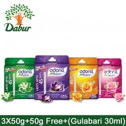 Odonil Nature  Air Freshener 3x50g+50g Free + Free Gulabbari Moisturising Cold Cream 30ml 1 Pack